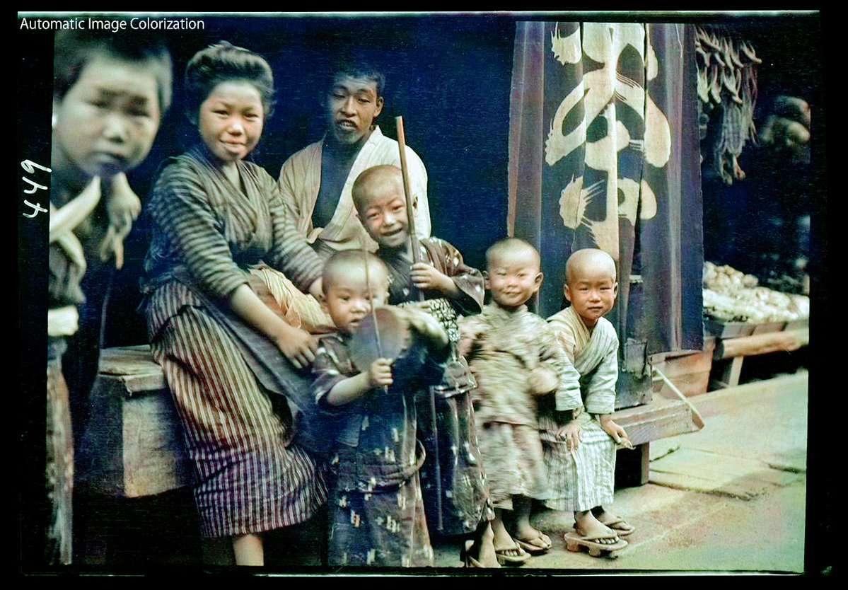 近所の子供達(1908年、Arnold Genthe氏撮影)