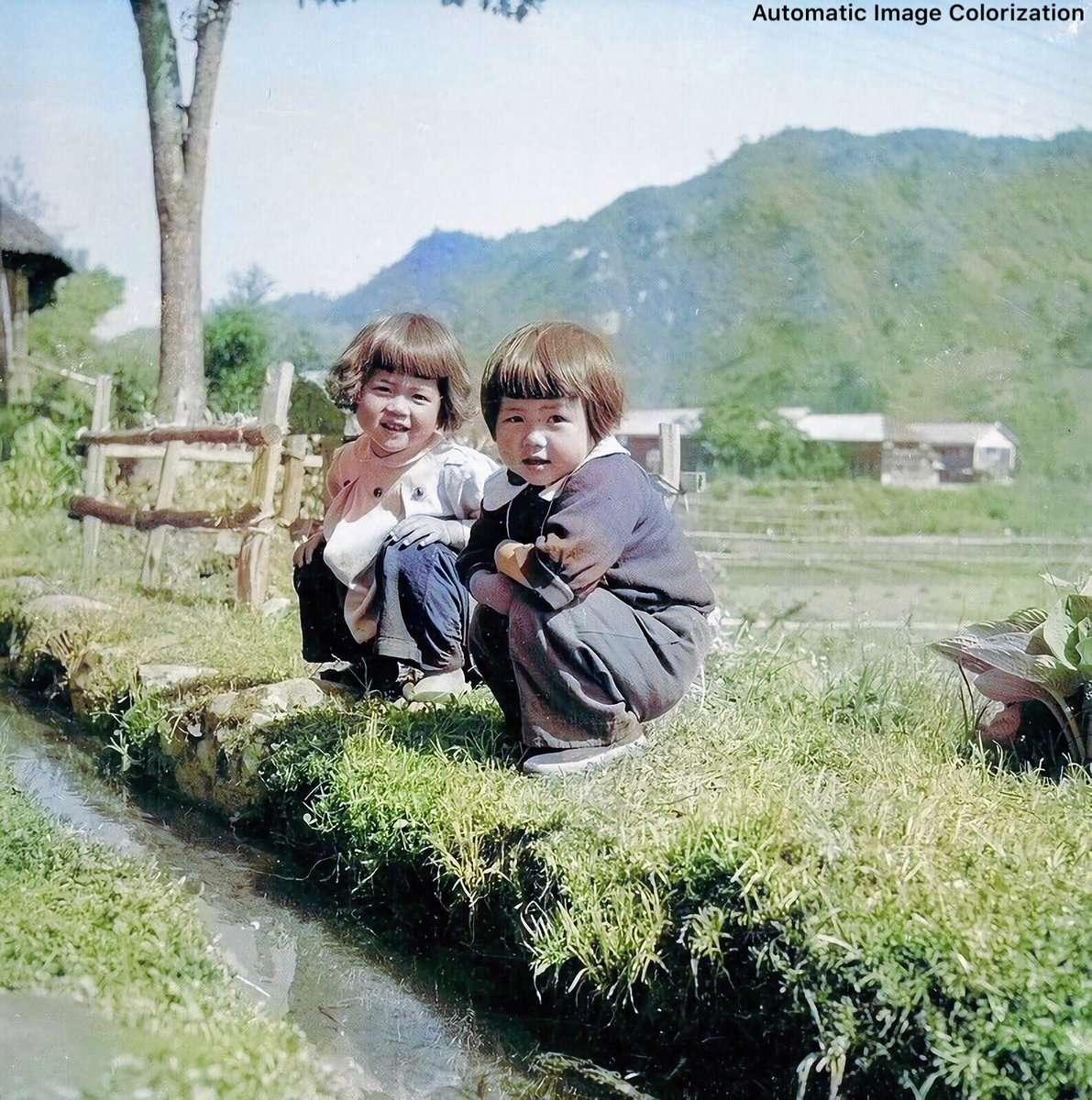 戦後の日本の子供達(1950年頃)