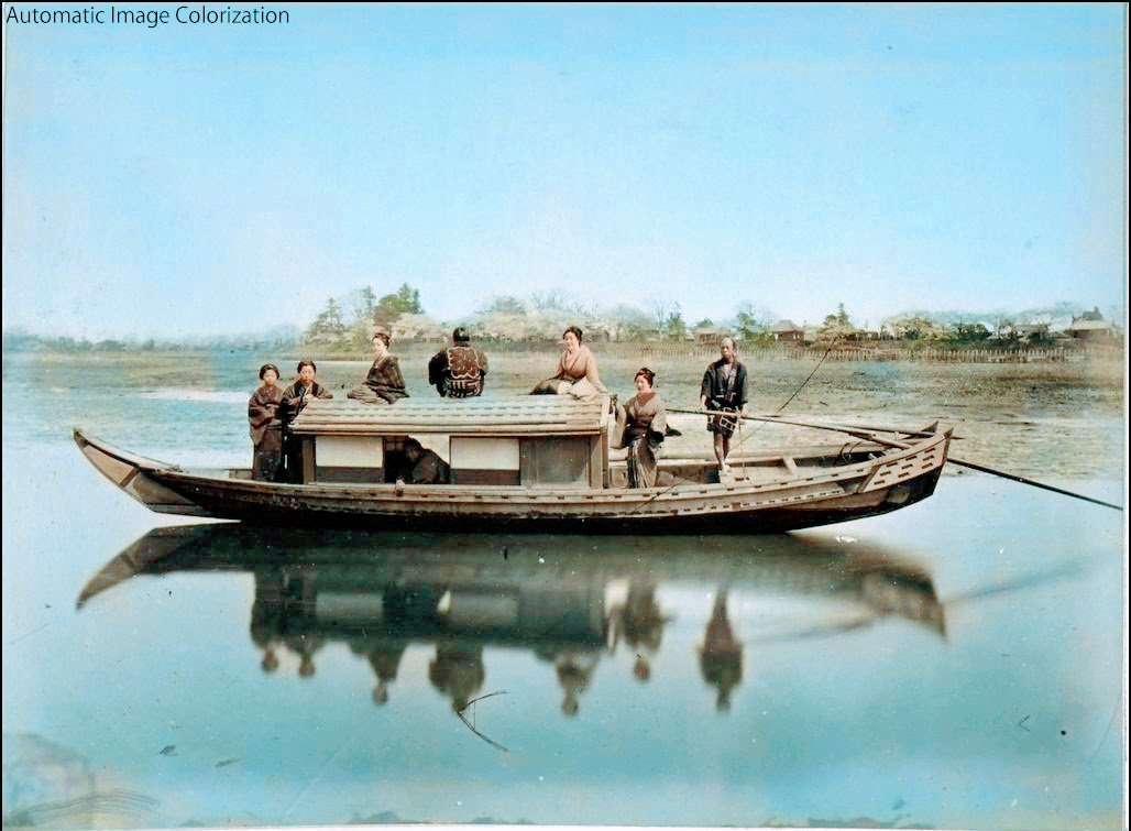 船(1886年、Adolfo Farsari氏撮影)