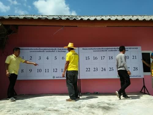 タイの選挙ポスター