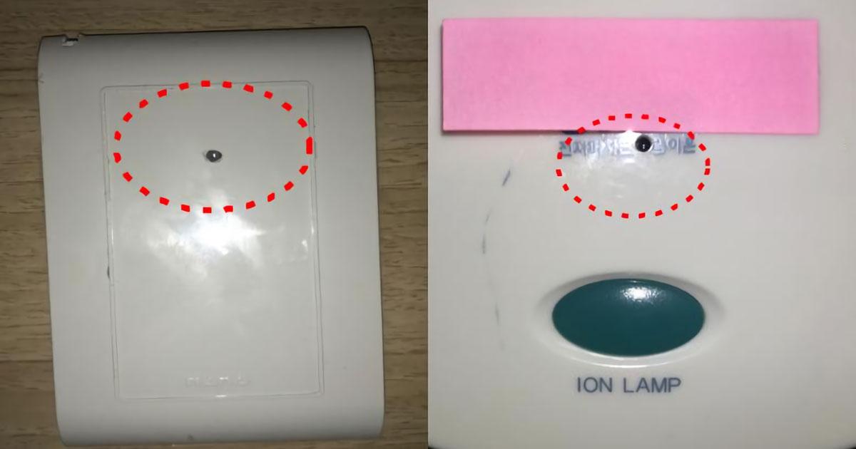 韓国のホテルの隠しカメラ