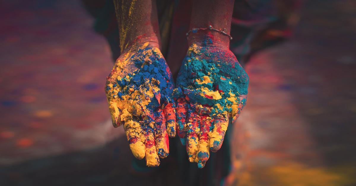 インドのカラーパウダー