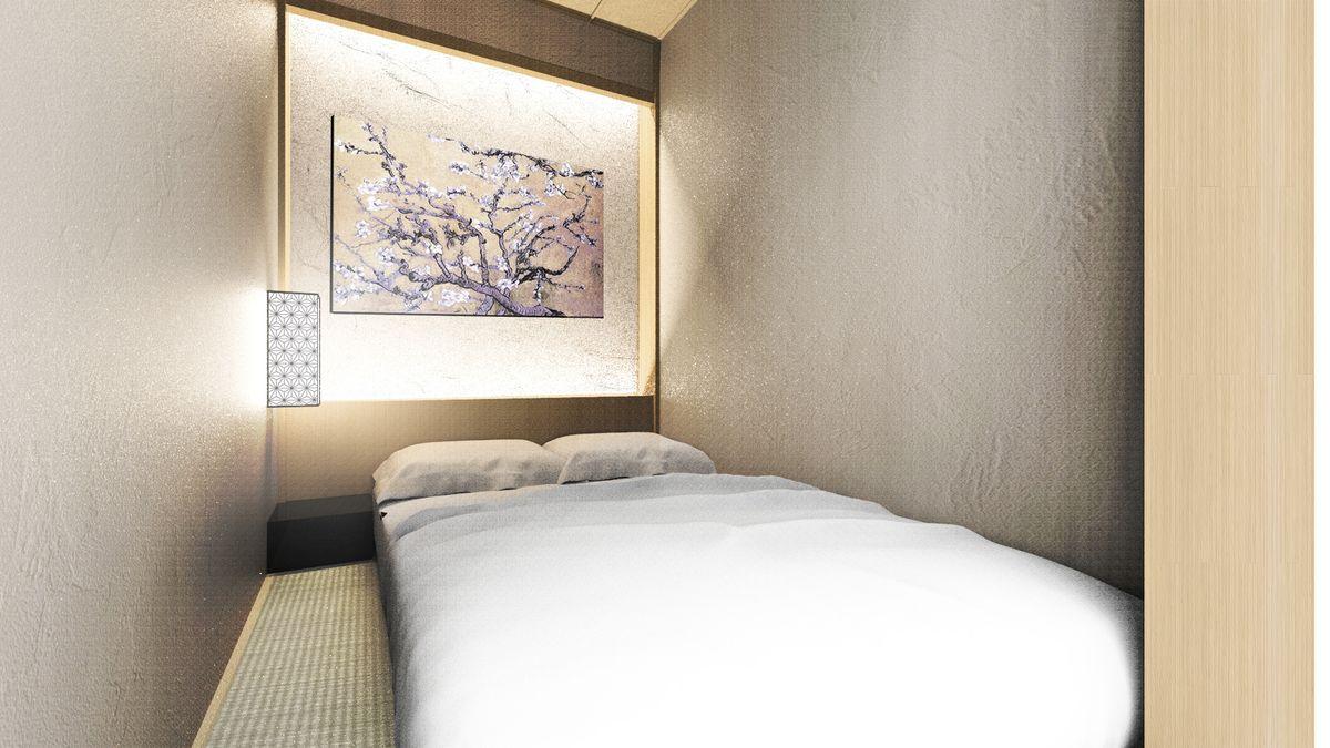 「ホテル・ゼン・トーキョー」畳の敷かれた客室