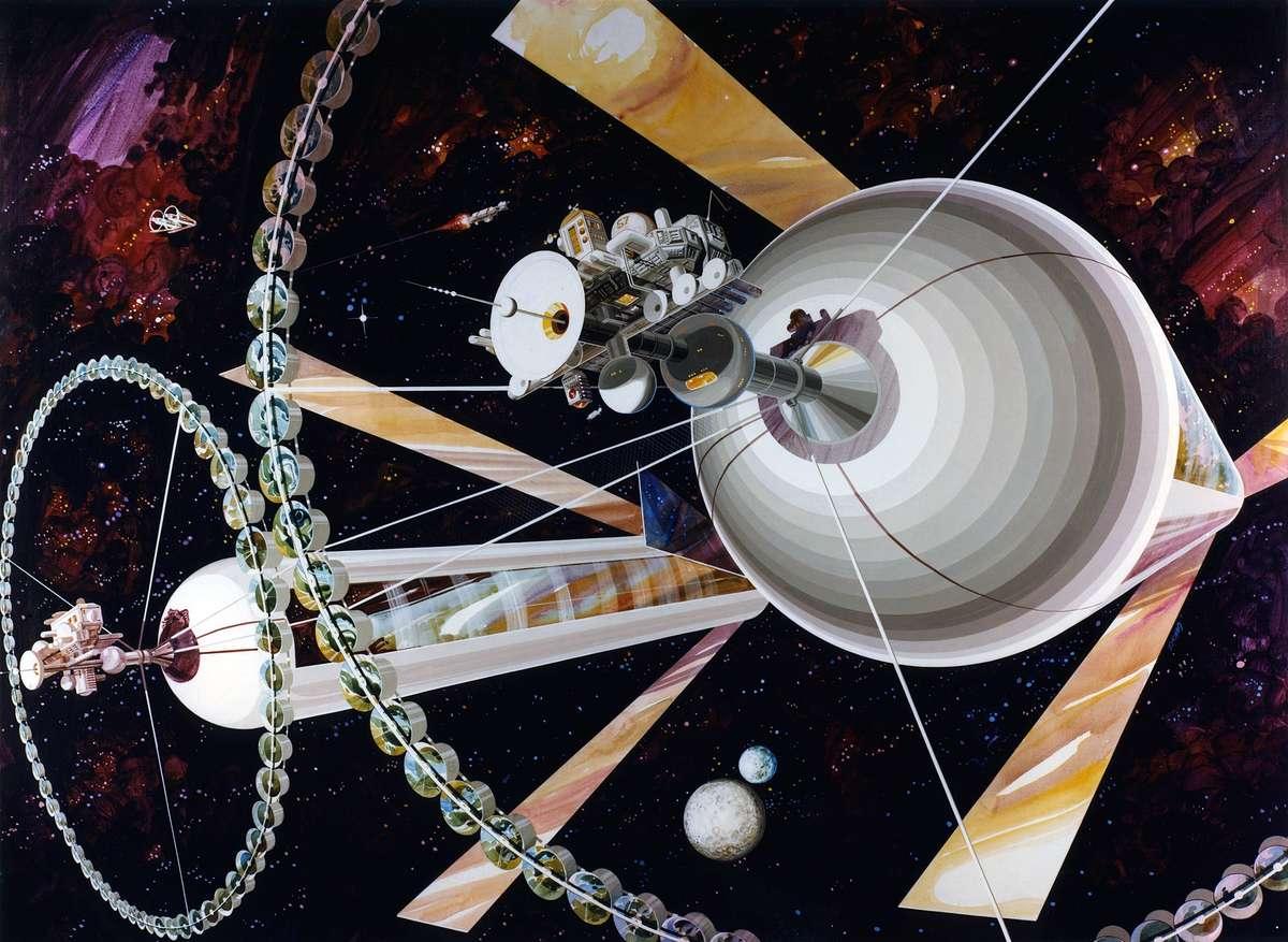 オニールのシリンダー型(円筒型)スペースコロニー