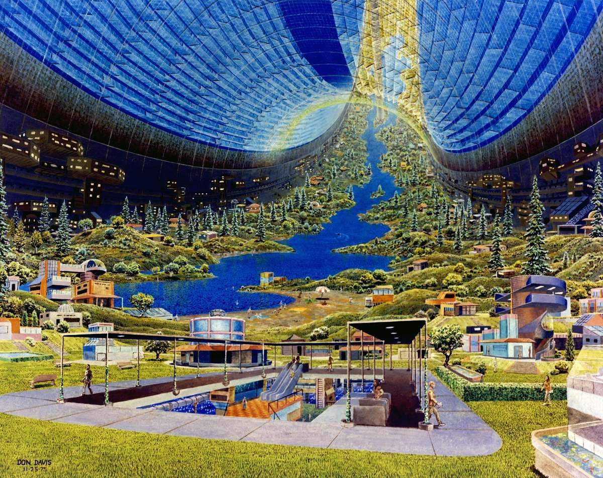 円型コロニーの内部居住区