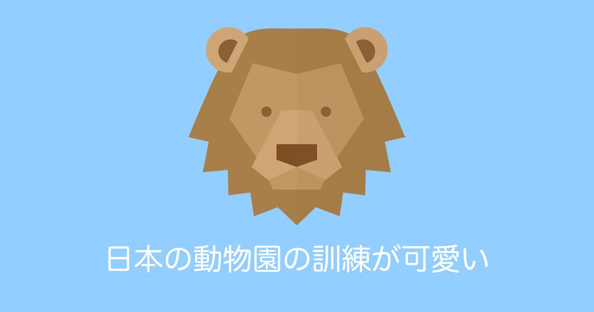 日本の動物園の訓練が可愛い