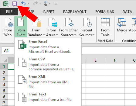 Excel保存ボタン