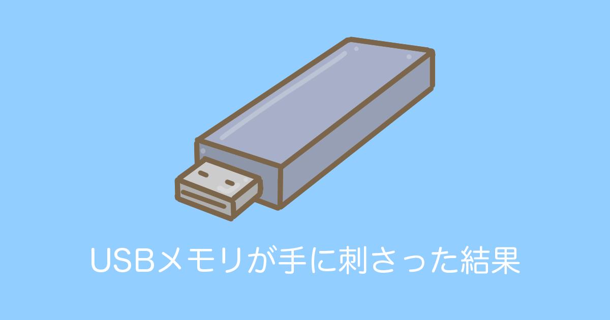 USBメモリが手に刺さった結果