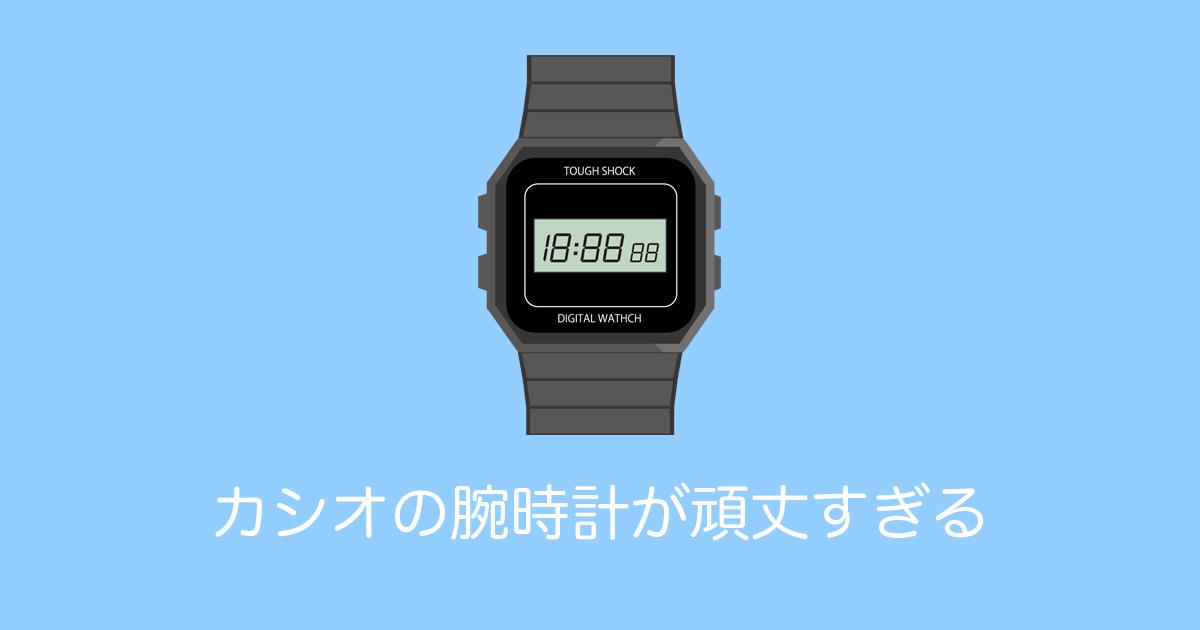 カシオの腕時計が頑丈すぎる