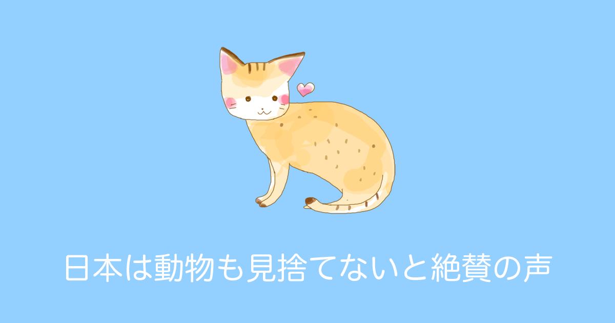 日本は動物も見捨てないと絶賛の声