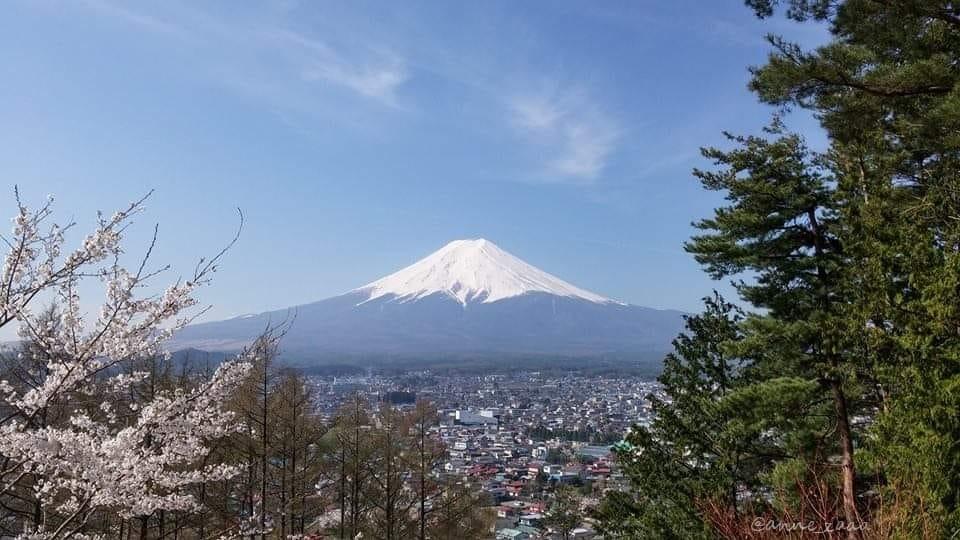 4年前の富士山