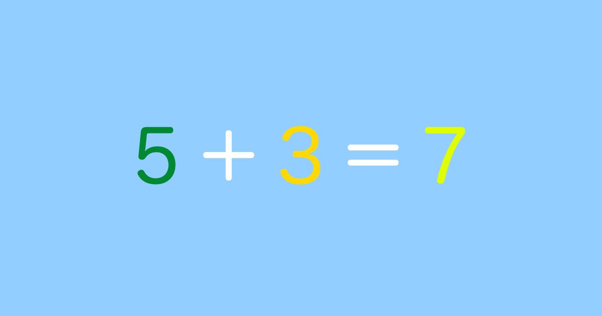 5+3=7