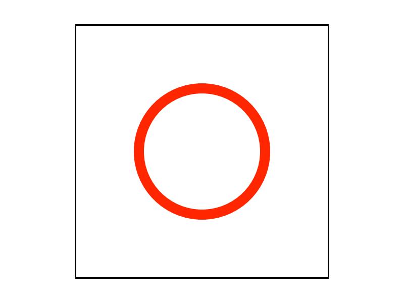 一筆書きで二重丸の描き方1