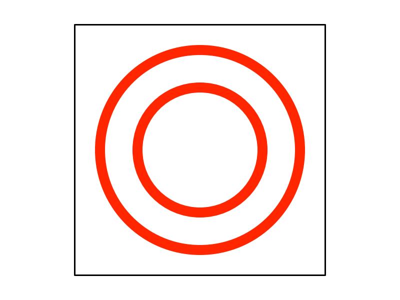 一筆書きで二重丸の描き方5