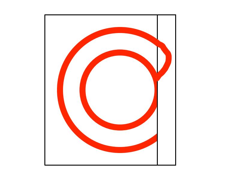 一筆書きで二重丸の描き方4