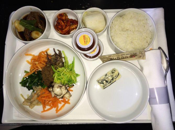 大韓航空ビジネスクラスの機内食