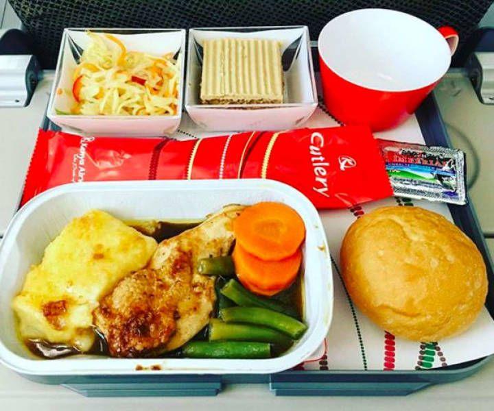 ケニア航空エコノミークラスの機内食