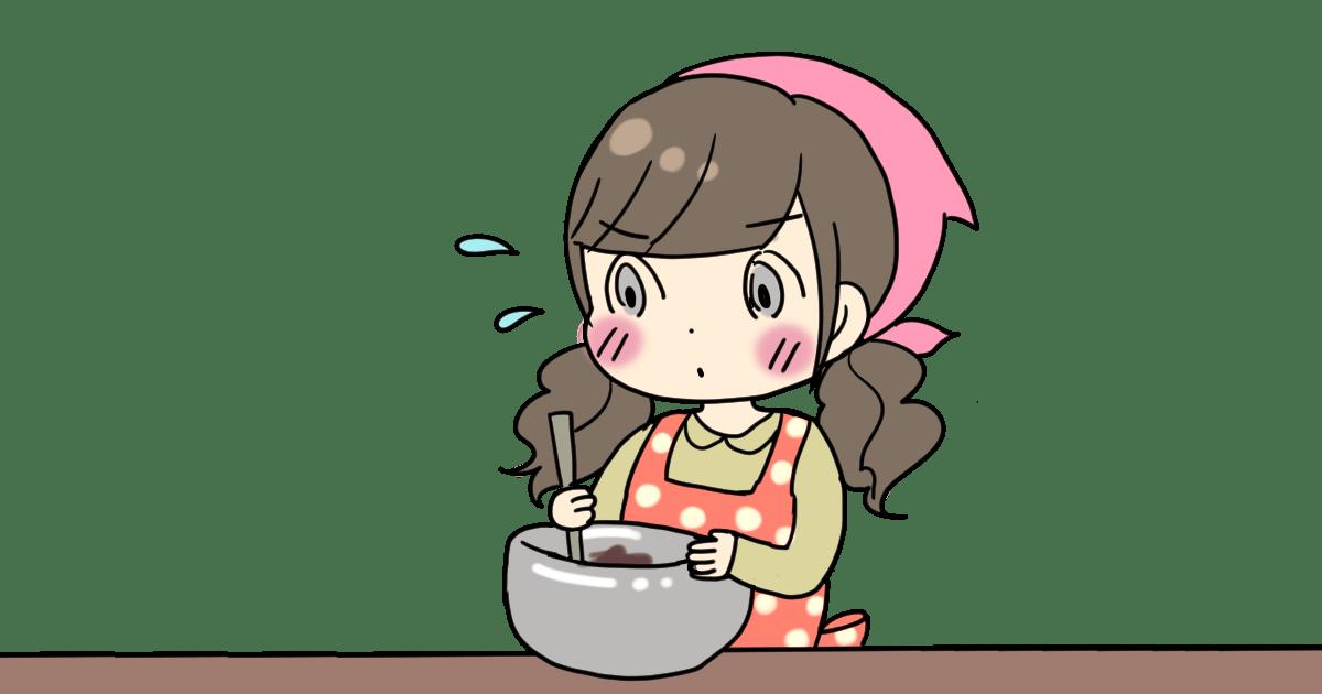 チョコを作る女の子