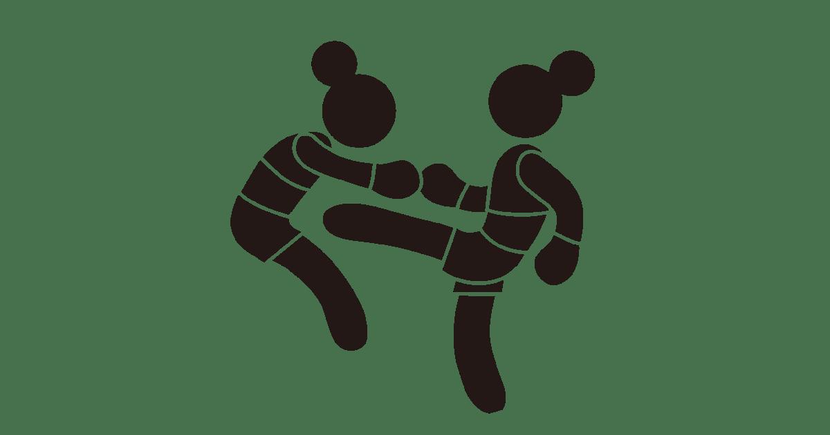 キックボクシングのシルエット