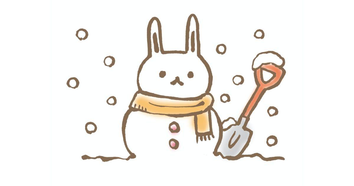 うさぎの雪だるま