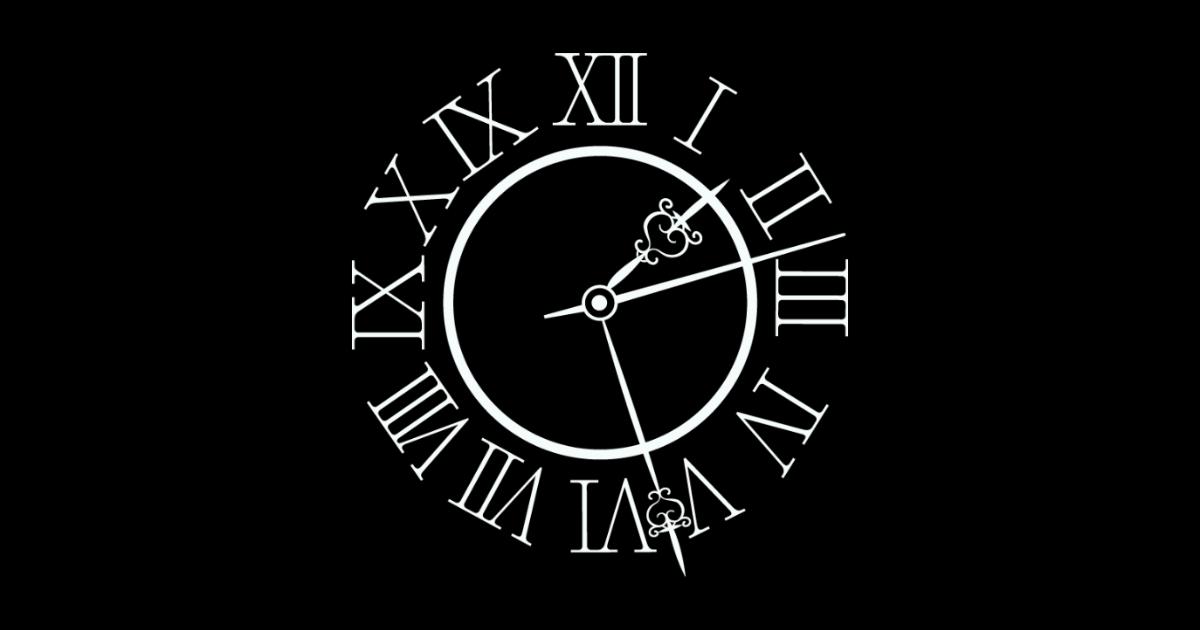 ローマ数字のゴシック時計
