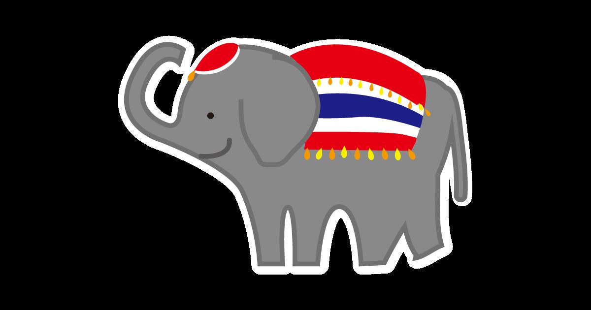 タイの国旗と象