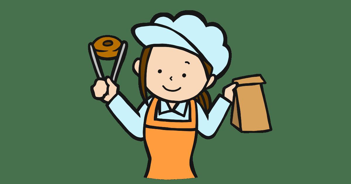ドーナツ屋の女性店員