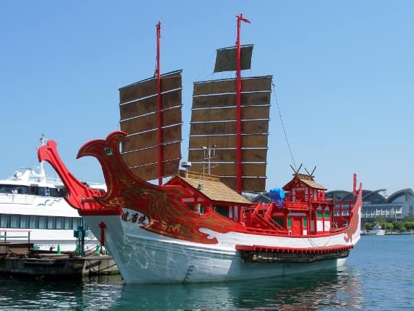 上海万博に際し復元された遣唐使船