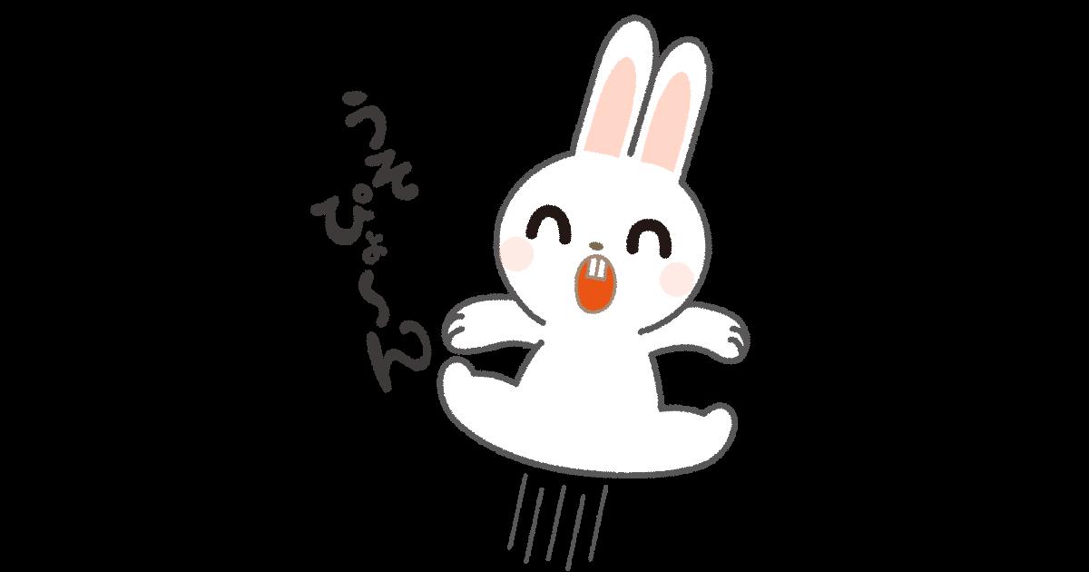 うそぴょ〜んウサギ