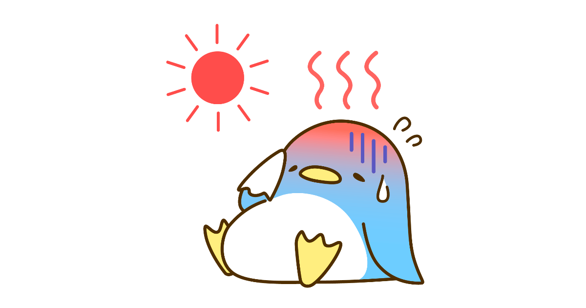 暑そうなペンギンちゃん