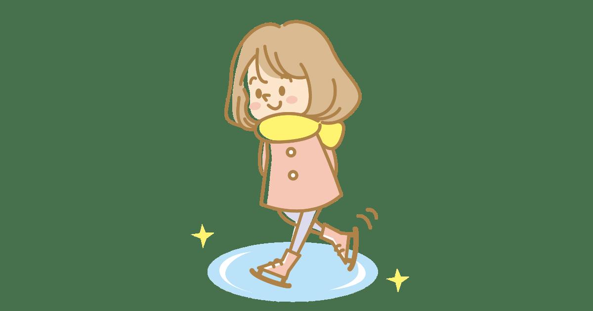 スケートをする女の子