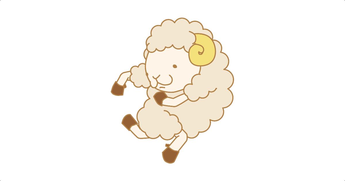 変な走り方をする羊