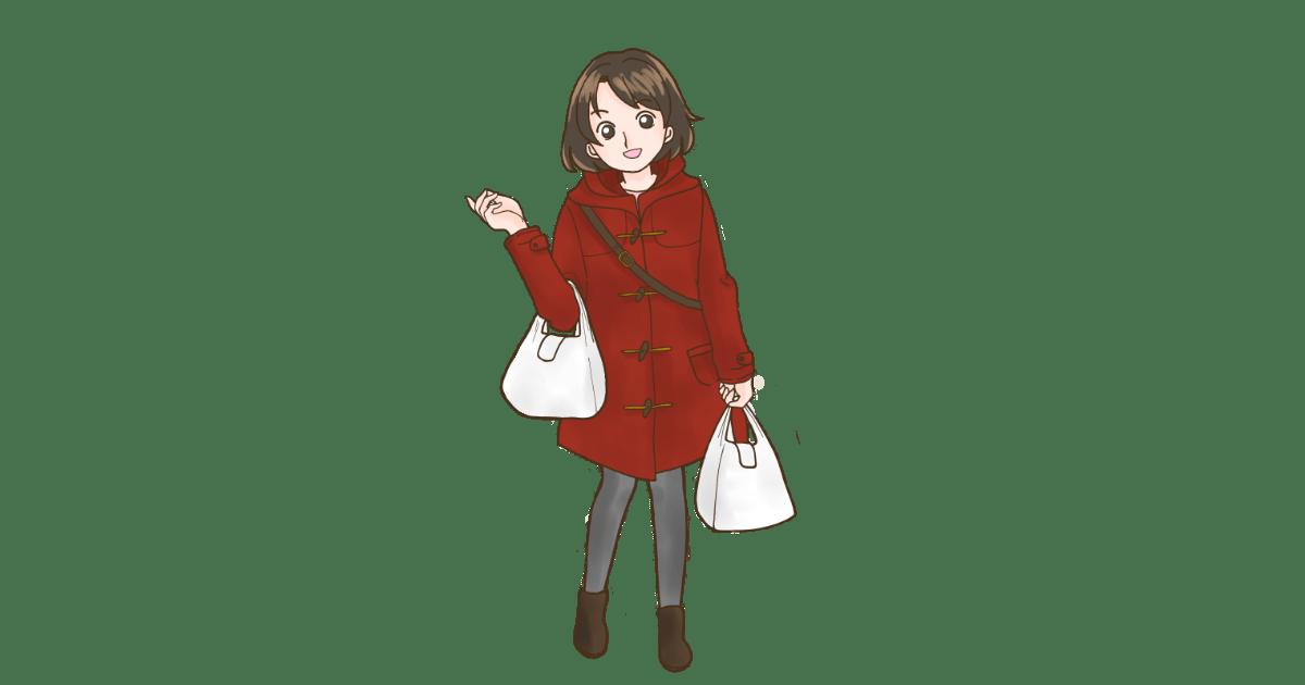 ビニール袋を持った可愛い女の子
