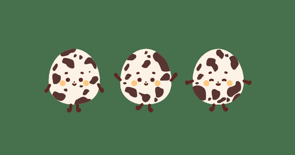 うずら卵の三兄弟