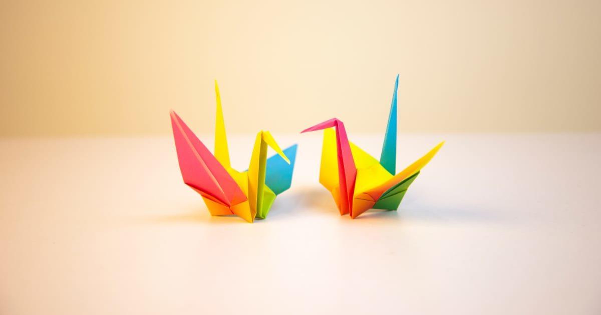 折り鶴、折り紙