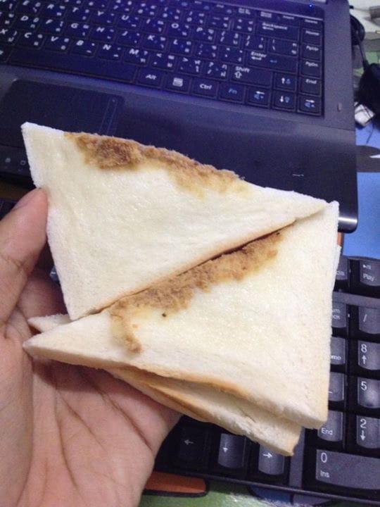 タイの5バーツサンドイッチ(ムーヨン)