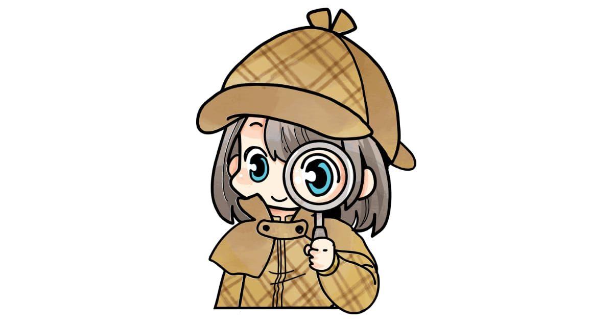 アニメキャラ風の探偵の女の子