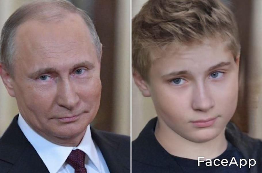 プーチンをFaceAppでイケメンに