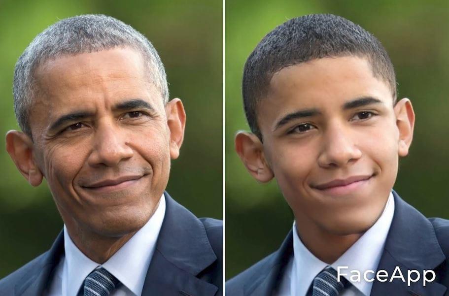 オバマをFaceAppでイケメンに