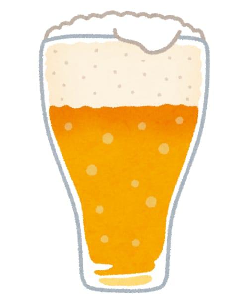 グラスに入ったビール