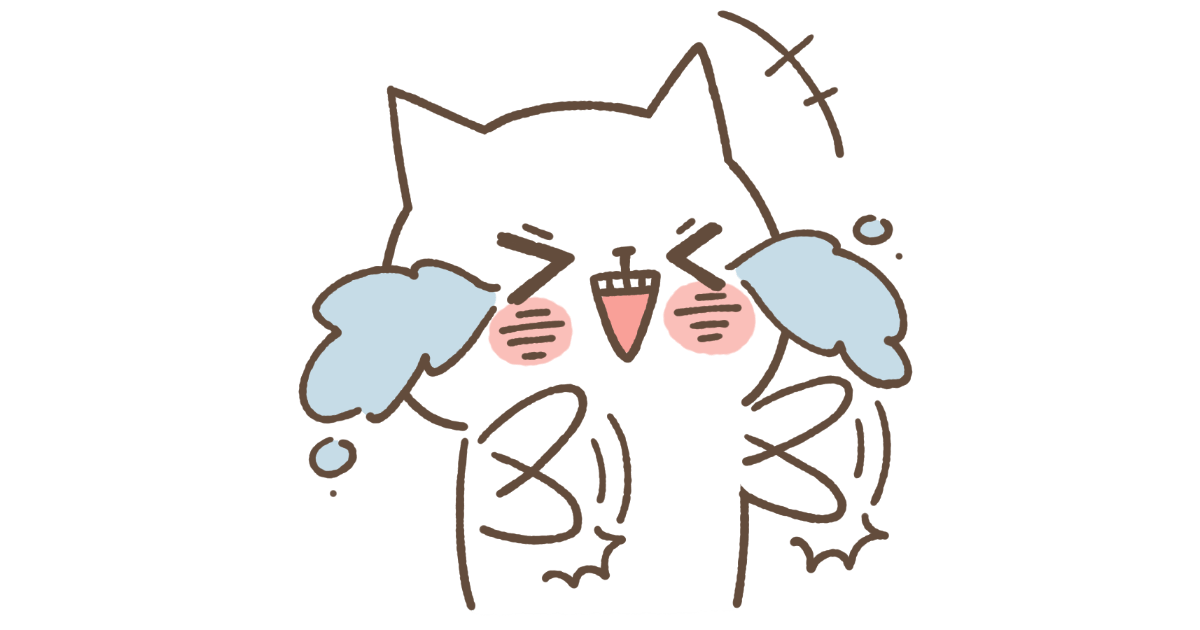 爆笑する白猫(ネコ)