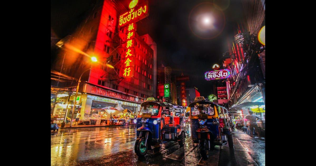 タイの中華街(ヤワラー)の風景写真