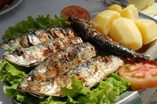 焼き魚、鰯の塩焼き