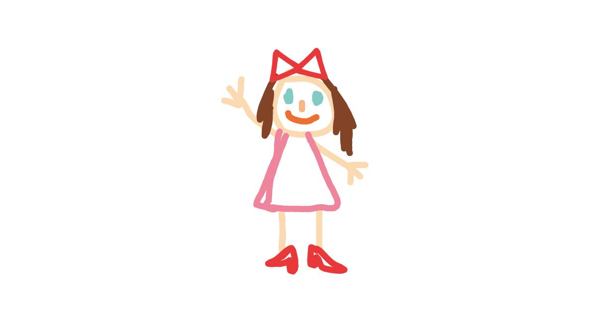 子供が描いた女の子の絵