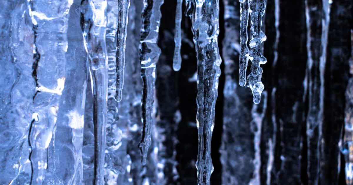 氷柱(つらら)の写真