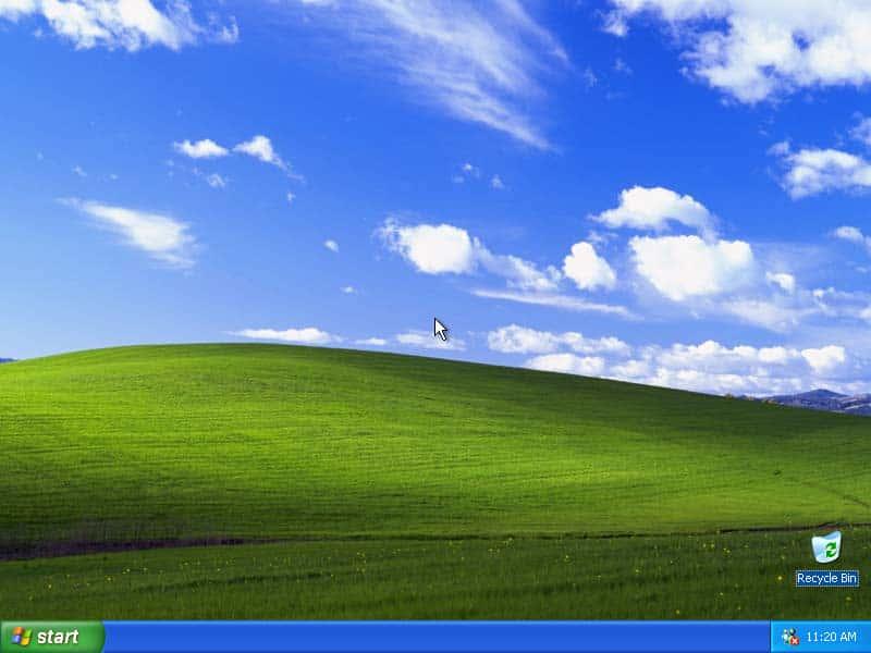 WindowsXPのデフォルトの壁紙