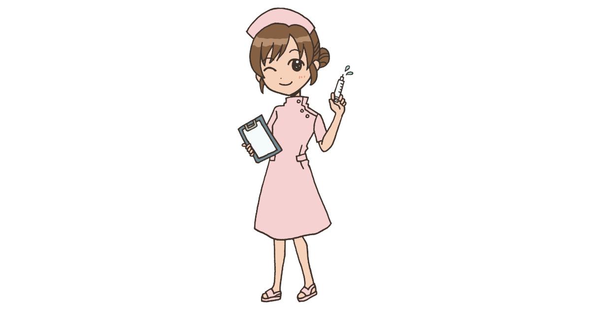 注射を持つ看護師さん